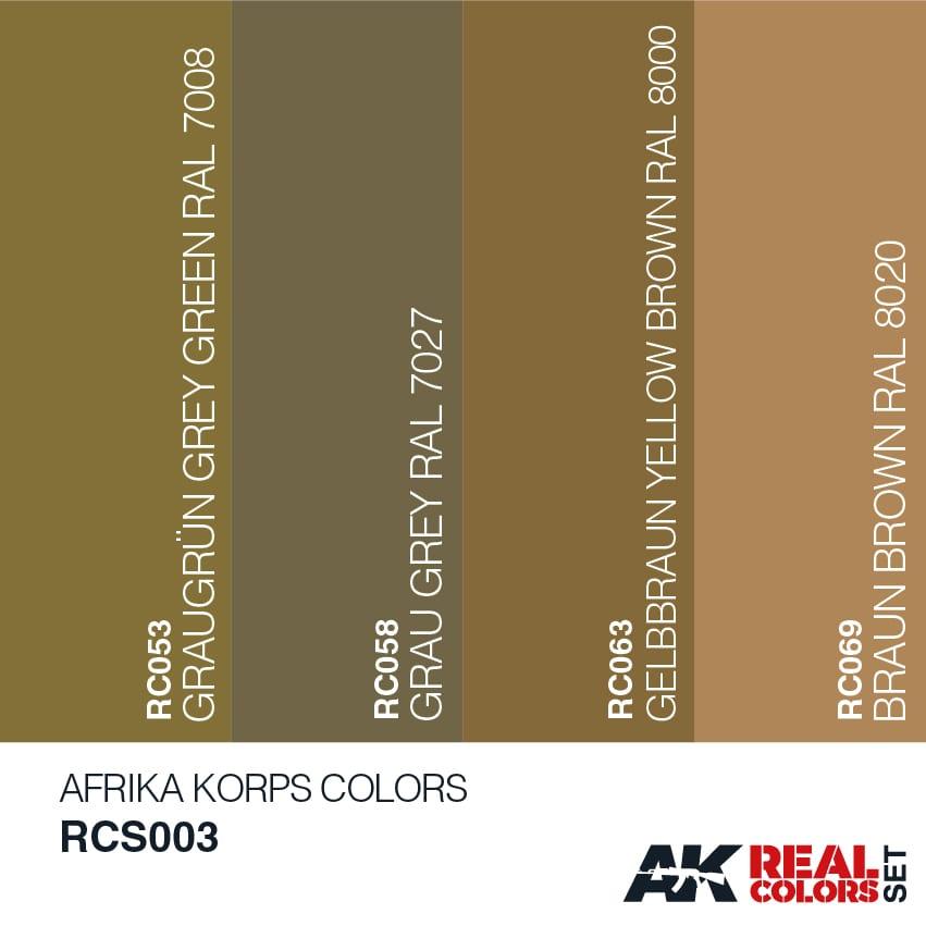 Buy Afrika Korps Colors Set online | AK Interactive