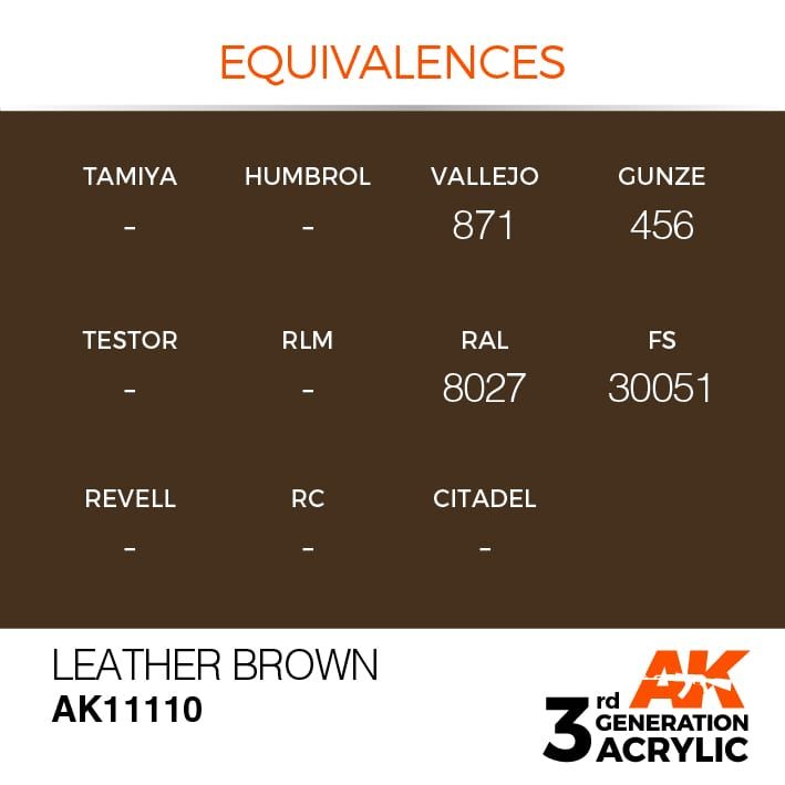 LEATHER BROWN – STANDARD - AK Interactive | The weathering #Brand