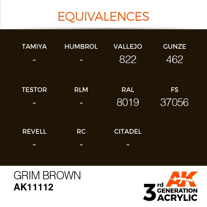 GRIM BROWN – STANDARD - AK Interactive | The weathering #Brand
