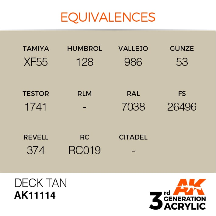 DECK TAN – STANDARD - AK Interactive | The weathering #Brand