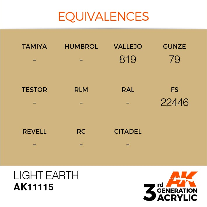 LIGHT EARTH – STANDARD - AK Interactive | The weathering #Brand