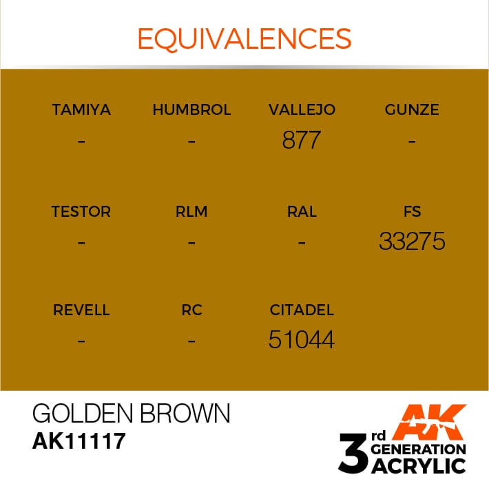 GOLDEN BROWN – STANDARD - AK Interactive | The weathering #Brand