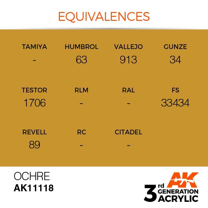 OCHRE – STANDARD - AK Interactive | The weathering #Brand