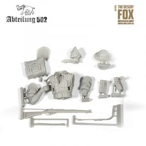 fox desert abteilung figures 1/10 scale akinteractive resin