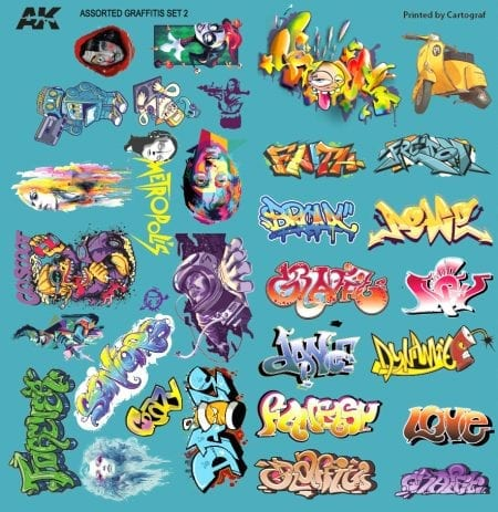 GRAFFITI DECALS SET