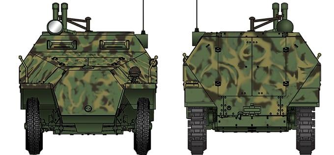Sdkfz Afv Club 35S47-1//35 WWII Dt 251//3 Ausf.D Mittlerer Funkpanzerwagen