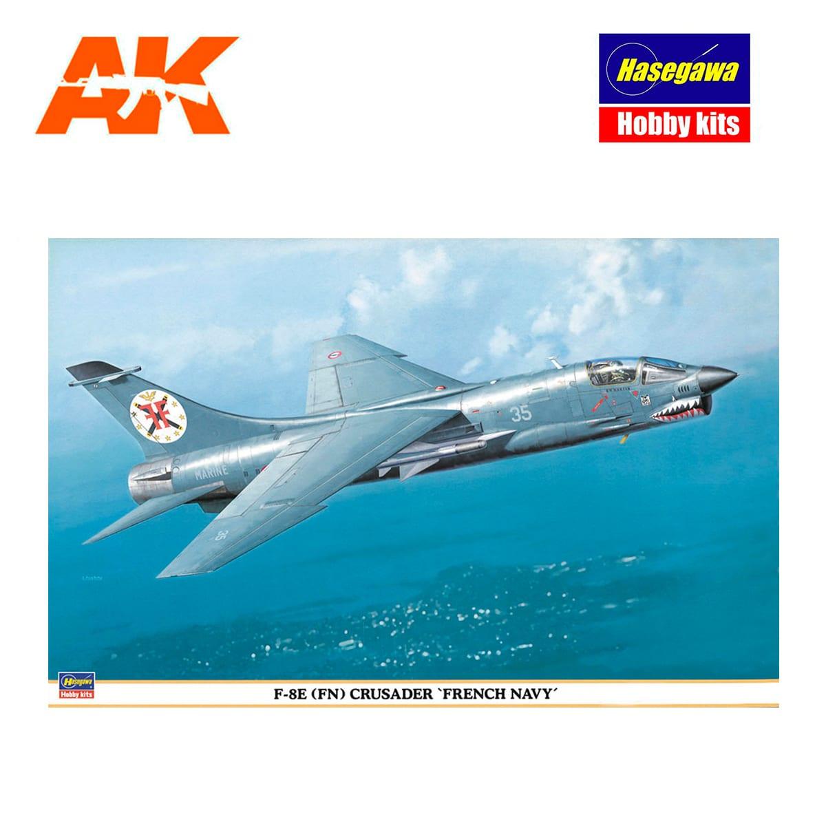 Hasegawa 1//48 French Navy F-8E FN Crusader Model Car 09514