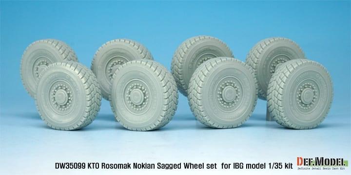DEF.MODEL,DW35099 1:35 for IBG KTO Rosomak Nokian Sagged Wheel set