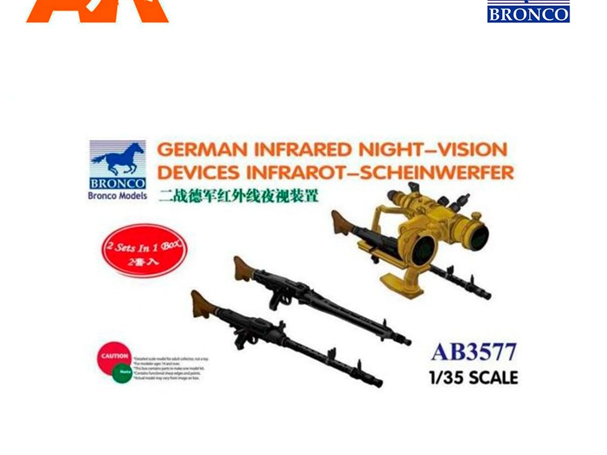 Bronco Ab3577-1//35 German Infrared Night-Vision Devices Infrarot-Scheinwerfer