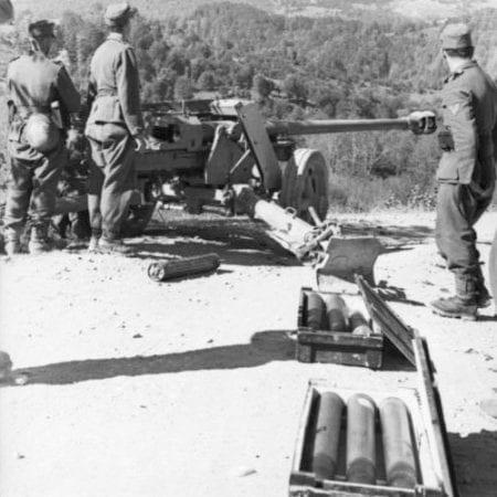 Albanien, deutsche Geschützstellung