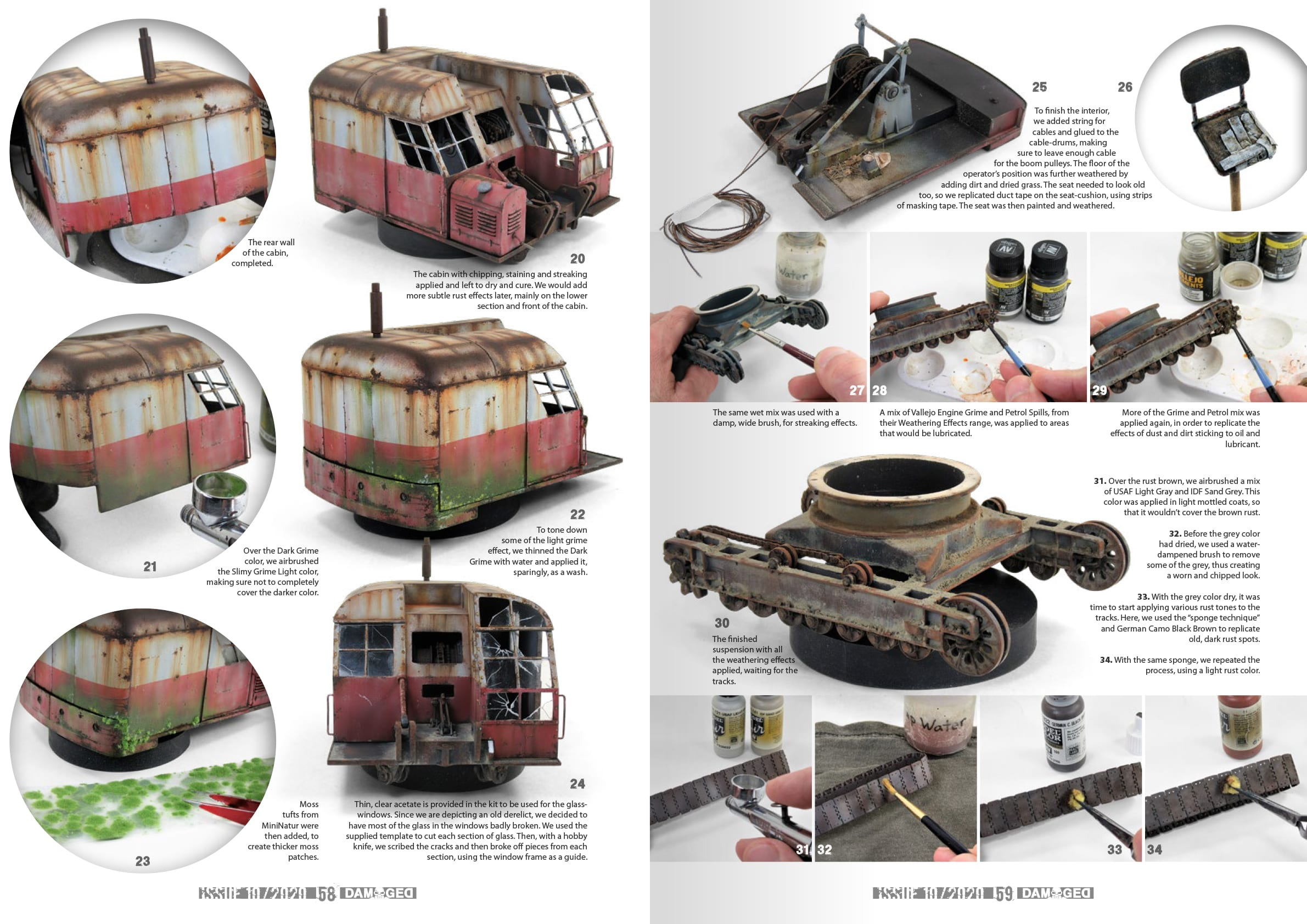 English Worn and Weathered Models Magazine # 10 Abteilung502 Damaged Plastic Model Building Paints and Accessories # ABT736