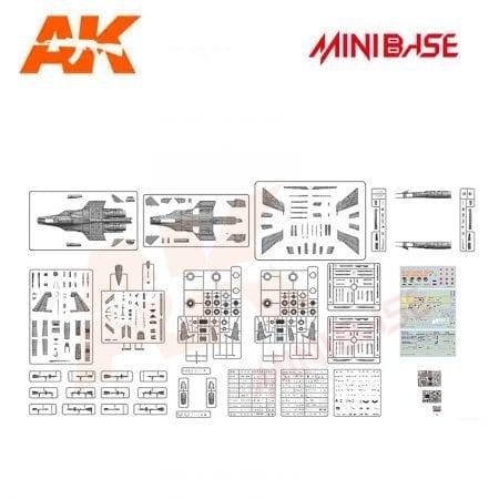 MBASE-8001 minibase akinteractive sukoi russian aircraft 1/48 piezes