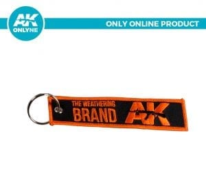 AK907D keychain akinteractive black orange