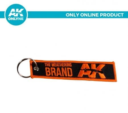 AK907D keychain akinteractive black orange