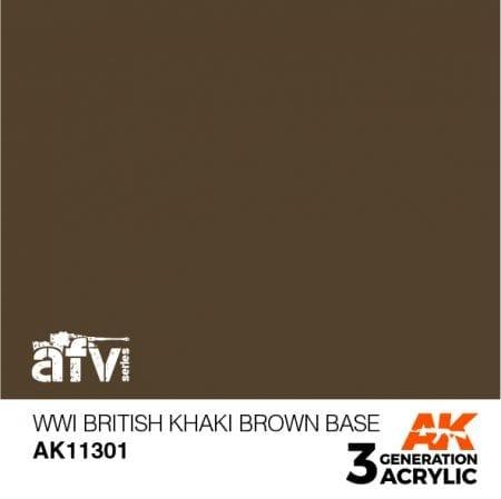 AK11301 WWI BRITISH KHAKI BROWN BASE