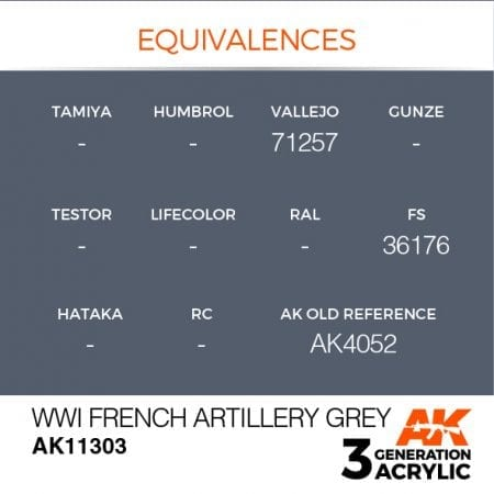 AK11303 WWI FRENCH ARTILLERY GREY
