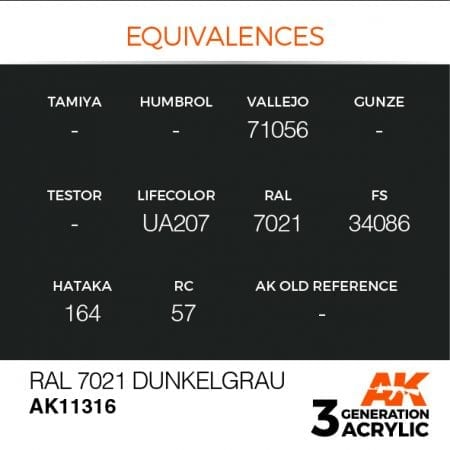 AK11316 RAL 7021 DUNKELGRAU