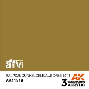 AK11319 RAL 7028 DUNKELGELB AUSGABE 1944