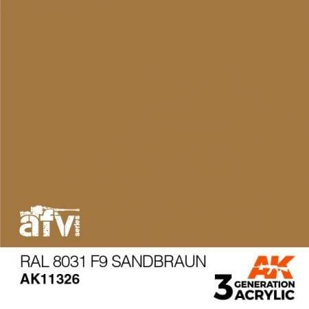 AK11326 RAL 8031 F9 SANDBRAUN