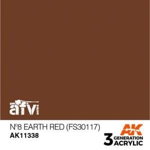 AK11338 Nº8 EARTH RED (FS30117)