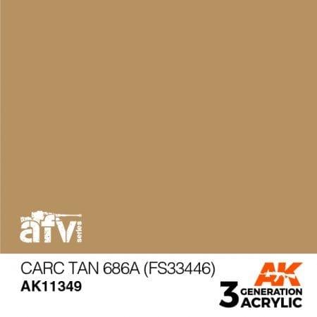 AK11349 CARC TAN 686A (FS33446)