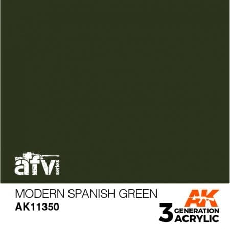 AK11350 MODERN SPANISH GREEN