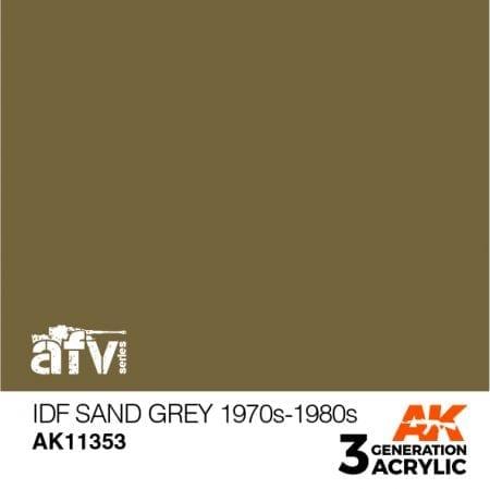 AK11353 IDF SAND GREY 1970S-1980S