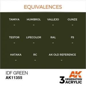 AK11355 IDF GREEN