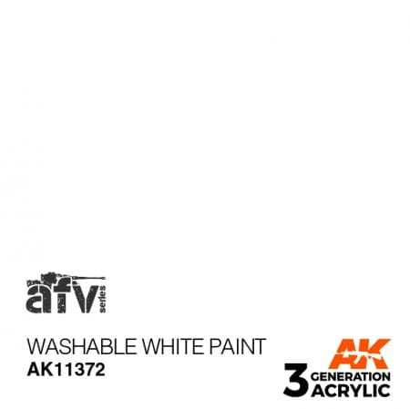 AK11372 WASHABLE WHITE PAINT