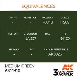 AK11412 MEDIUM GREEN