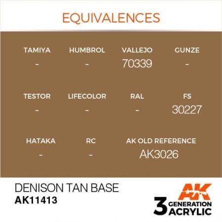 AK11413 DENISON TAN BASE
