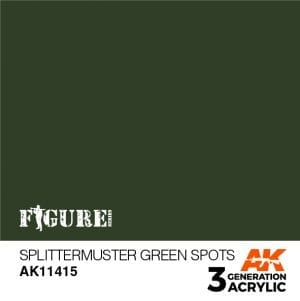 AK11415 SPLITTERMUSTER GREEN SPOTS