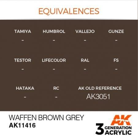 AK11416 WAFFEN BROWN GREY