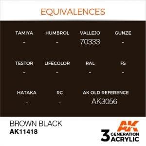 AK11418 BROWN BLACK