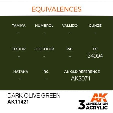 AK11421 DARK OLIVE GREEN