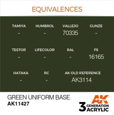AK11427 GREEN UNIFORM BASE