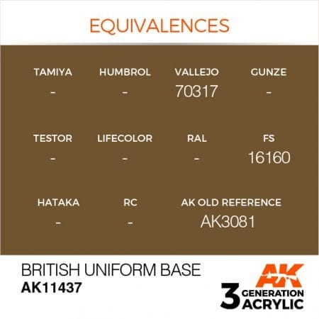 AK11437 BRITISH UNIFORM BASE