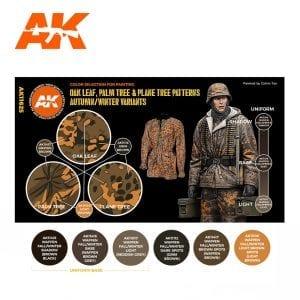 AK11625 OAK LEAF, PALM TREE & PLANE TREE PATTERNS AUTUMN/WINTER VARIANTS