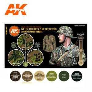 AK11626 OAK LEAF, PALM TREE & PLANE TREE PATTERNS SPRING/SUMMER VARIANTS