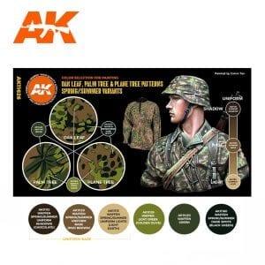 AK11626 OAK LEAF, PALM TREE & PLANE TREE PATTERNS SPRING/SUMMER VARIANTS