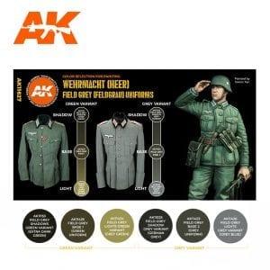AK11627 FIELD GREY (FELDGRAU) UNIFORMS