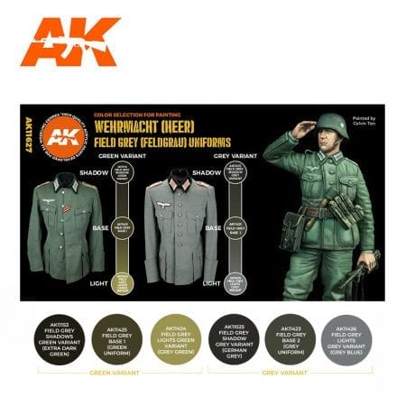 AK11627 FIELD GREY (FELDGRAU) UNIFORMS