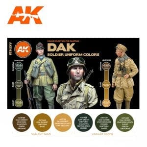 AK11628 DAK SOLDIERS UNIFORM COLORS
