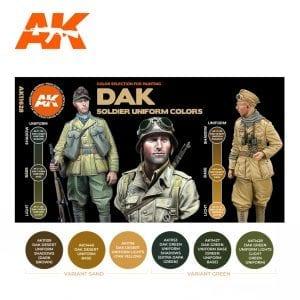 AK11628 DAK SOLDIERS UNIFORM COLORS