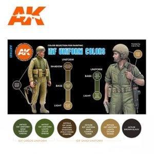 AK11631 IDF UNIFORM COLORS