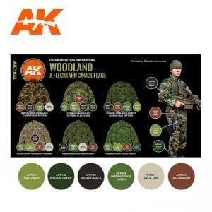 AK11632 WOODLAND & FLACKTARN CAMOUFLAGE