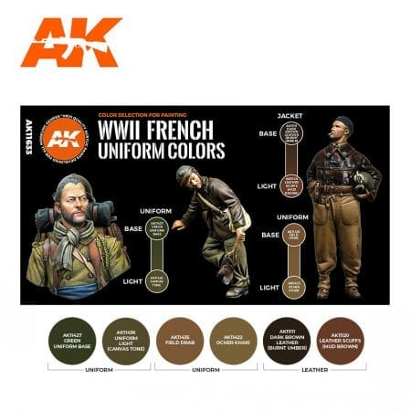 AK11633 WWII FRENCH UNIFORM COLORS