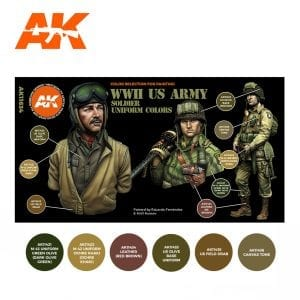AK11634 WWII US ARMY SOLDIER UNIFORM COLORS