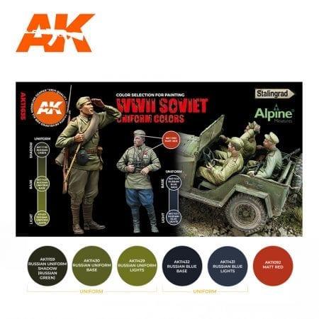 AK11635 WWII SOVIET UNIFORM COLORS