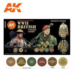 AK11636 WWII BRITISH UNIFORM COLORS